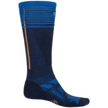 SmartWool Ski Light Socks - Merino Wool, Over the Calf (For Men and Women) in Navy - 2nds
