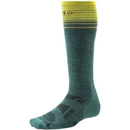 SmartWool Ski Light Socks - Merino Wool, Over the Calf (For Men and Women) in Sea Pine - 2nds