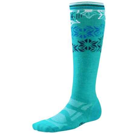 SmartWool Ski Light Socks - Merino Wool, Over the Calf (For Women) in Capri/Ink - Closeouts