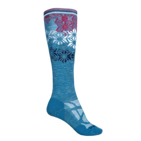 SmartWool Ski Light Socks - Merino Wool, Over the Calf (For Women) in Glacial Blue