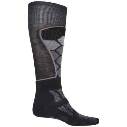 SmartWool Ski Medium Pattern Socks - Merino Wool, Over the Calf (For Men and Women) in Charcoal - 2nds