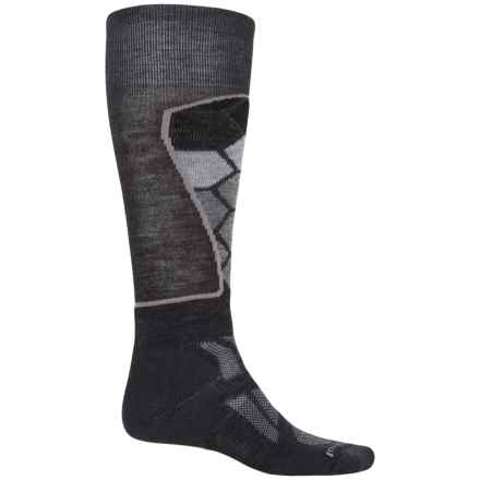 SmartWool Ski Medium Pattern Socks - Merino Wool, Over the Calf (For Men and Women) in Charcoal - Closeouts