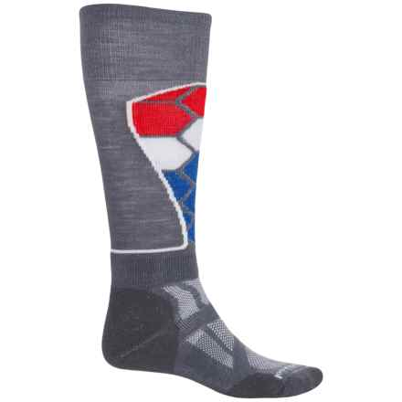 SmartWool Ski Medium Pattern Socks - Merino Wool, Over the Calf (For Men and Women) in Graphite - Closeouts