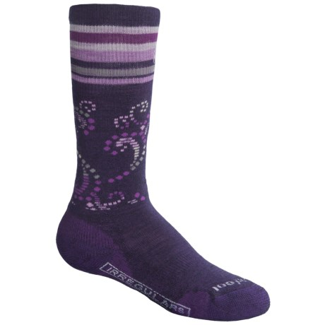 SmartWool Ski Racer Socks - Merino Wool (For Girls) in Imperial Purple