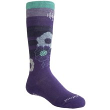 SmartWool Ski Racer Socks - Merino Wool (For Girls) in Purple - 2nds