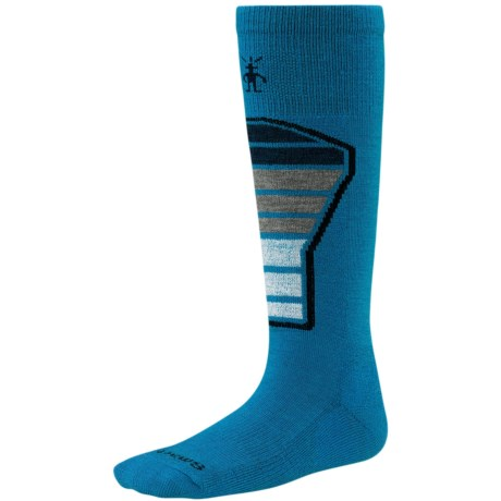 SmartWool Ski Racer Socks - Merino Wool (For Kids and Youth) in Arctic Blue