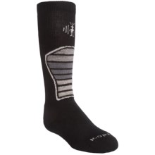 SmartWool Ski Racer Socks - Merino Wool (For Kids and Youth) in Black/Grey - 2nds