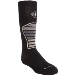 SmartWool Ski Racer Socks - Merino Wool (For Kids and Youth) in Black/Grey