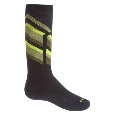SmartWool Ski Racer Socks - Merino Wool, Over the Calf (For Big Kids) in Black