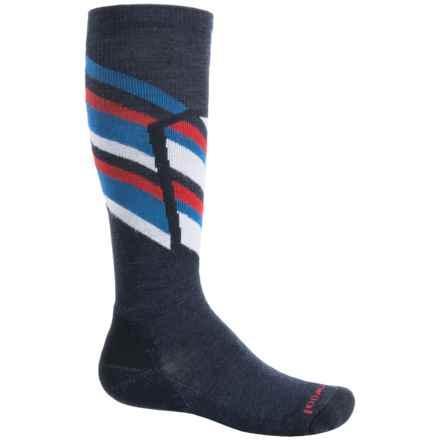 SmartWool Ski Racer Socks - Merino Wool, Over the Calf (For Big Kids) in Deep Navy - 2nds