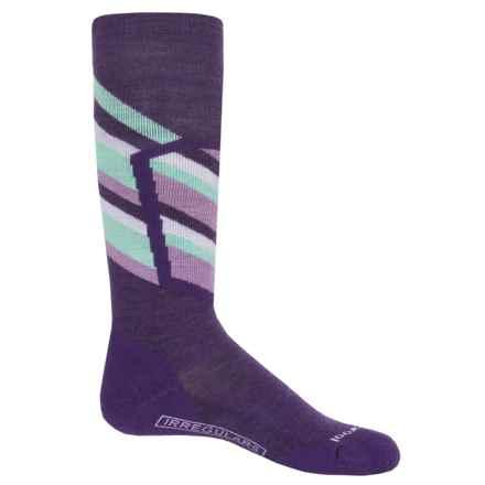 SmartWool Ski Racer Socks - Merino Wool, Over the Calf (For Big Kids) in Mountain Purple - 2nds