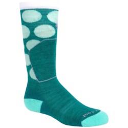 SmartWool Ski Racer Socks - Merino Wool, Over the Calf (For Little and Big Kids) in Dark Spearmint