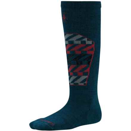SmartWool Ski Racer Socks - Merino Wool, Over the Calf (For Little and Big Kids) in Deep Sea - 2nds