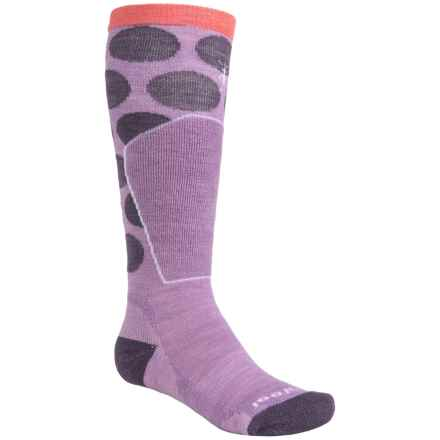 SmartWool Ski Racer Socks - Merino Wool, Over the Calf (For Little and Big Kids) in Lilac - 2nds