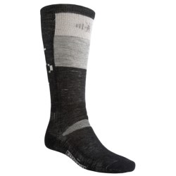 SmartWool Ski Socks - Medium Cushion (For Men and Women) in Black/Crimson