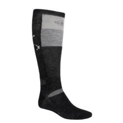SmartWool Ski Socks - Medium Cushion (For Men and Women) in Navy/Arcitic Blue