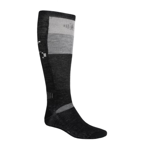 SmartWool Ski Socks - Medium Cushion (For Men and Women) in Navy/Arcitic Blue