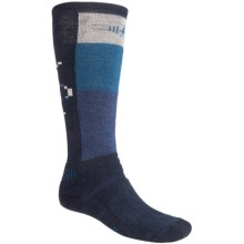 SmartWool Ski Socks - Medium Cushion (For Men And Womens) in Navy/Arcitic Blue - 2nds