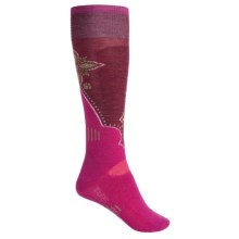 SmartWool Ski Socks - Medium Cushion (For Women) in Berry - 2nds