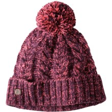 SmartWool Ski Town Beanie Hat - Merino Wool Blend (For Men and Women) in Aubergine Heather - Closeouts