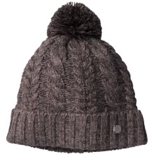 SmartWool Ski Town Beanie Hat - Merino Wool Blend (For Men and Women) in Taupe - Closeouts