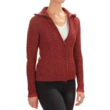 SmartWool Ski Town Sweater - Merino Wool, Zip Front (For Women) in Aubergine Heather - Closeouts