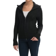 SmartWool Ski Town Sweater - Merino Wool, Zip Front (For Women) in Charcoal Heather - Closeouts
