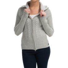 SmartWool Ski Town Sweater - Merino Wool, Zip Front (For Women) in Silver Grey Heather - Closeouts