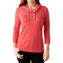SmartWool Sky Pond Hoodie - Merino Wool, 3/4 Sleeve (For Women) in Hbscus Heather - Closeouts