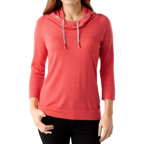 SmartWool Sky Pond Hoodie Merino Wool, 3/4 Sleeve (For Women)