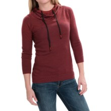 SmartWool Sky Pond Hoodie - Merino Wool, 3/4 Sleeve (For Women) in Moab Rust Heather - Closeouts