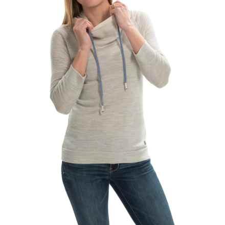 SmartWool Sky Pond Hoodie - Merino Wool, 3/4 Sleeve (For Women) in Silver Grey Heather - Closeouts