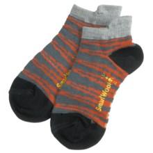 SmartWool Slash Stripe Socks - Merino Wool (For Boys) in Black - 2nds