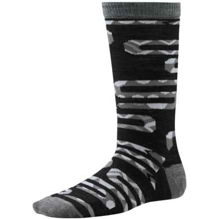 SmartWool Slithering Snakes Socks - Merino Wool, Crew (For Little and Big Boys) in Black - Closeouts