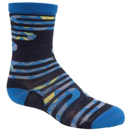 SmartWool Slithering Snakes Socks - Merino Wool, Crew (For Little and Big Boys) in Deep Navy Heather - Closeouts