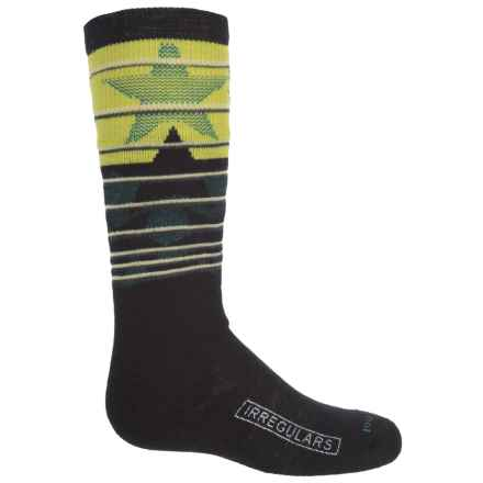 SmartWool Slopestyle Lincoln Loop Socks - Merino Wool, Over the Calf (For Little and Big Kids) in Black - 2nds