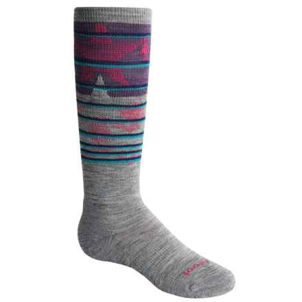 SmartWool Slopestyle Lincoln Loop Socks - Merino Wool, Over the Calf (For Little and Big Kids) in Light Gray - 2nds