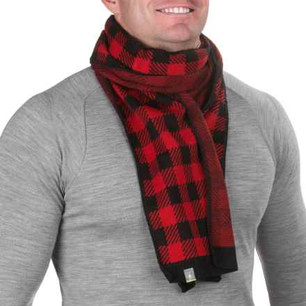 SmartWool Slopestyle Scarf - Merino Wool (For Men) in Bright Red - Closeouts