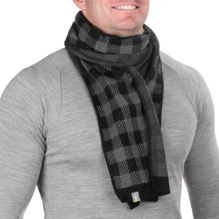 SmartWool Slopestyle Scarf - Merino Wool (For Men) in Medium Gray Heather - Closeouts