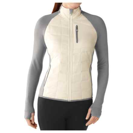 SmartWool SmartLoft Divide Midlayer Jacket - Merino Wool (For Women) in Natural - Closeouts