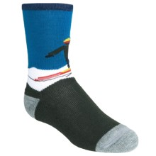 SmartWool Snow Plow Socks - Merino Wool, Crew (For Kids and Youth) in Forest - 2nds