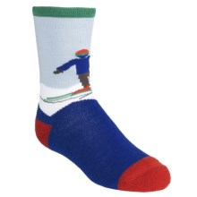 SmartWool Snow Plow Socks - Merino Wool, Crew (For Kids and Youth) in Royal - 2nds