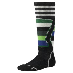 SmartWool Snowboard Socks - Merino Wool, Over-the-Calf (For Kids and Youth) in Black