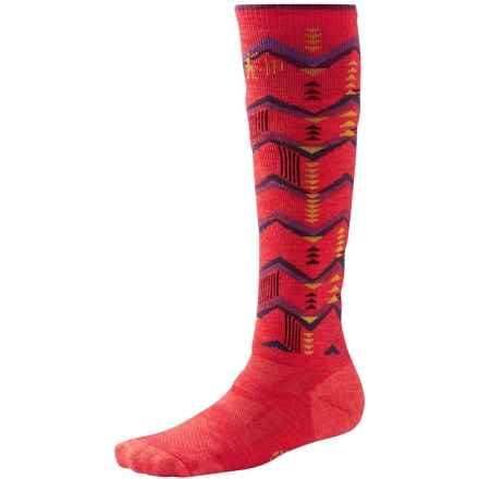 SmartWool Snowboard Socks - Merino Wool, Over the Calf (For Women) in Hibiscus - Closeouts
