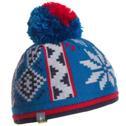 SmartWool Snowflake Beanie - Merino Wool (For Kids) in Deep Navy - Closeouts