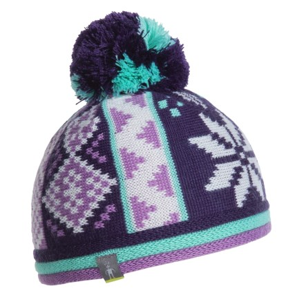 SmartWool Snowflake Beanie - Merino Wool (For Kids) in Lilac - Closeouts 458d2f1f7761