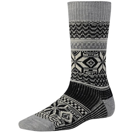 SmartWool Snowflake Pop Socks - Merino Wool (For Women) in Black
