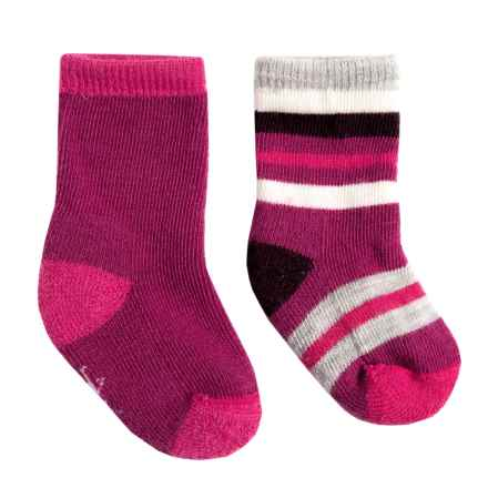 SmartWool Sock Sampler - 2-Pack, Merino Wool (For Infants and Toddlers) in Berry - Closeouts