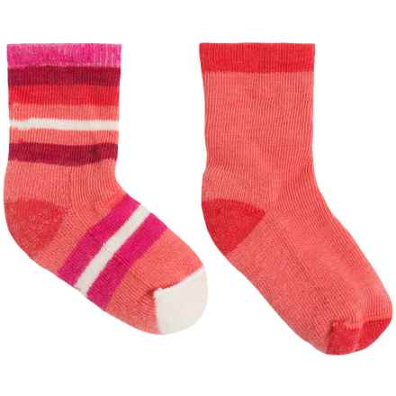 SmartWool Sock Sampler - 2-Pack, Merino Wool (For Infants and Toddlers) in Bright Coral - Closeouts