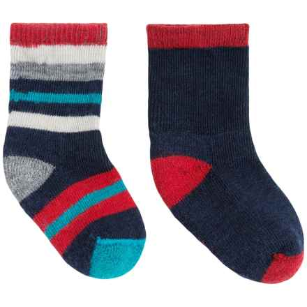 SmartWool Sock Sampler - 2-Pack, Merino Wool (For Infants and Toddlers) in Deep Navy Heather - Closeouts